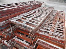 Iron frame of building material Stock Images