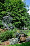 Iron framed gardener sculpture, Leominster. Royalty Free Stock Photos