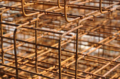 Iron framework. To be cast in concrete royalty free stock photos