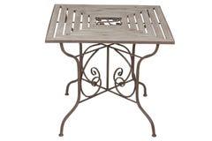 Iron furniture. Table Royalty Free Stock Image