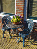 Iron Garden Furniture. In a rural house Royalty Free Stock Photo