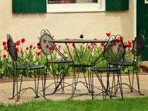 Iron Garden Table And  Chairs Royalty Free Stock Image