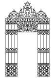 Iron gate royalty free illustration