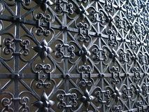 Iron gate. With flower motif Stock Photography