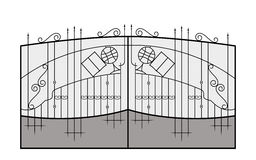 Iron gate. Architecture detail. Vector EPS10 Stock Photo