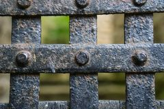 Iron gate closed royalty free stock image