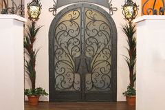 Iron gate doors Stock Image