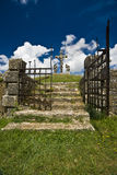 The iron gate of the entrance of calvary in Zminj Stock Photo