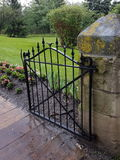 Iron gate heritage pathway Stock Photo