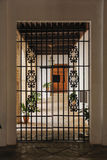 Iron gate leading to the balcony Royalty Free Stock Image