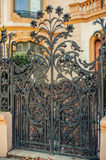 Iron gate. Ornament. Vintage retro style royalty free stock images