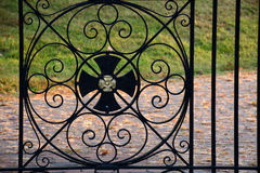 Iron gate ornamentation Stock Photos