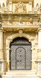 Iron gate at a palace with baroque details Royalty Free Stock Images