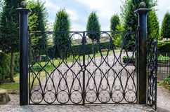 Iron gate. In the a park Stock Images