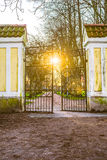Iron gate. In the a park Royalty Free Stock Images
