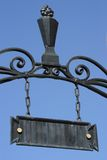 Iron Gate Plaque Stock Photo