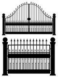 Iron Gate Silhouette Royalty Free Stock Photos
