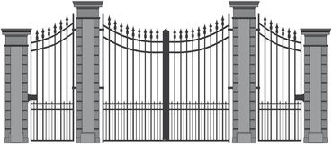 Iron gate 6 Royalty Free Stock Image
