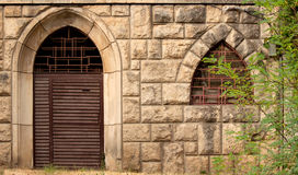 Iron gate and window Royalty Free Stock Photography