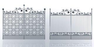 Iron gates. Wrought iron gates with swirl Stock Photography