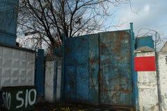 Iron gates in autumn time Royalty Free Stock Photo