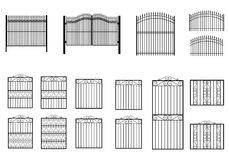 Iron gates collections Stock Images