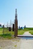 Iron gates, public art in Wijk aan Zee, Holland Stock Photos
