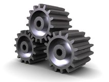 Iron gear wheels Stock Images