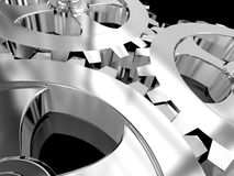 Iron gears Stock Images