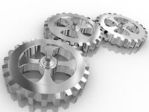 Iron gears Royalty Free Stock Photography