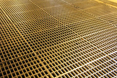 Iron grate on the floor Royalty Free Stock Image