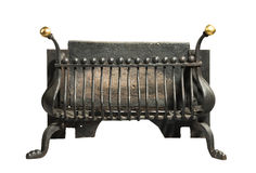 Iron grate old antique for fireplaces Royalty Free Stock Images
