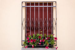 Iron Grating Window Stock Photography