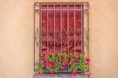 Iron grating window Royalty Free Stock Photos