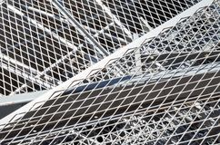Iron grid and ferrous material in the landfill Stock Photos
