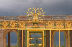Iron grid, the gate of Trianon, Versailles, France Royalty Free Stock Photography
