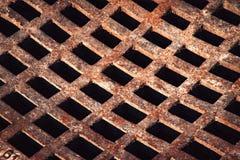 Iron grid to sewerage Royalty Free Stock Image