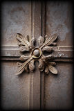 Iron grunge ornament. Edges blurred framed copper iron ornament royalty free stock image