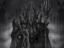 Iron guardian. Knight of  death Royalty Free Stock Photography