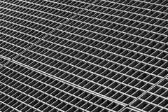 Iron gutter grates and metal vent grids Stock Photos