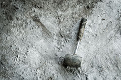 Iron hammer on the floor Stock Images