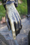 Iron hand sculpture. Royalty Free Stock Photo