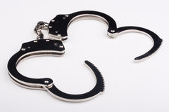 Iron handcuffs Stock Photos