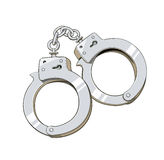 Iron handcuffs for criminal Stock Photography