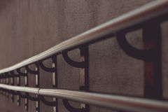 Iron handrail, finial detail Stock Image
