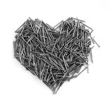 Iron heart. Heart made out of nails Royalty Free Stock Photos