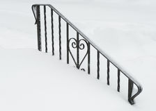Iron Heart Buried in Snow Royalty Free Stock Images