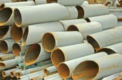 Iron hollow tubes Royalty Free Stock Photos