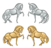 Iron horse royalty free illustration