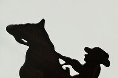 Iron Horse & Rider background. Silhouette of iron horse and rider as a background Stock Image
